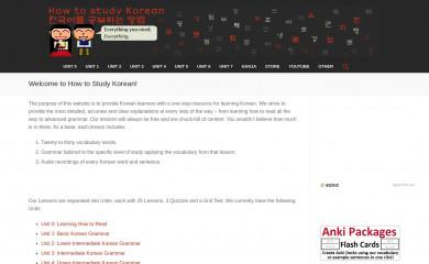 howtostudykorean.com screenshot