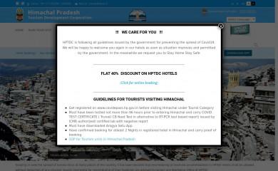 http://hptdc.in screenshot