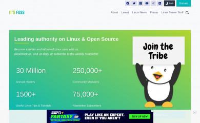 itsfoss.com screenshot