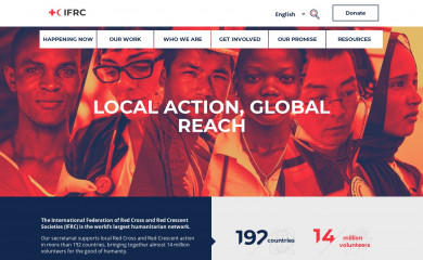 http://ifrc.org screenshot