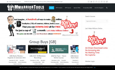 imwarriortools.com screenshot