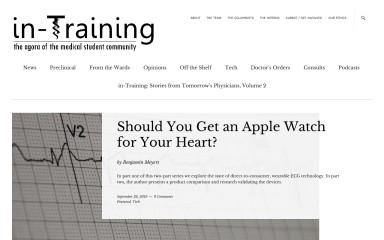 http://in-training.org screenshot