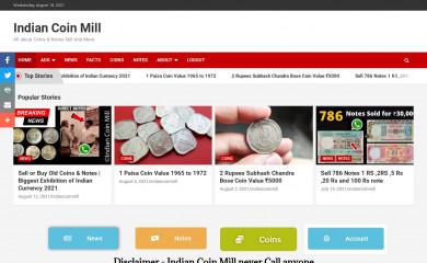 indiancoinmill.com screenshot