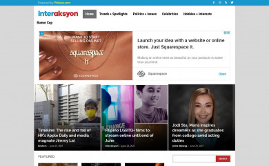 http://interaksyon.com screenshot