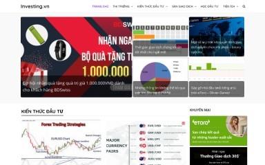 http://investing.vn screenshot