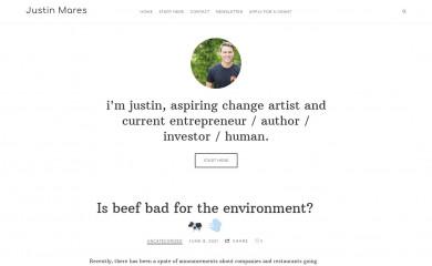 justinmares.com screenshot