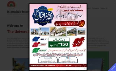 jamiaislamabad.edu.pk screenshot