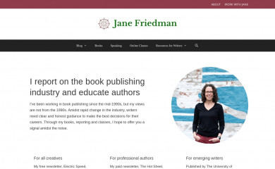 http://janefriedman.com screenshot