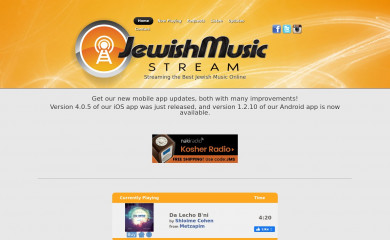jewishmusicstream.com screenshot