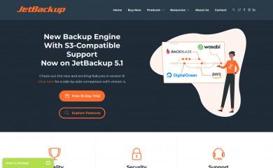 jetbackup.com screenshot