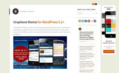 http://www.khairul-syahir.com/wordpress-dev/graphene-theme screenshot