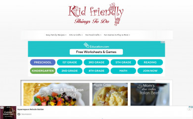 http://kidfriendlythingstodo.com screenshot