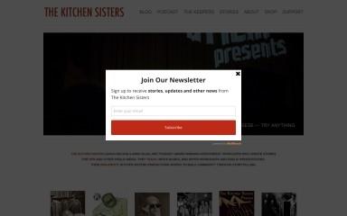 kitchensisters.org screenshot