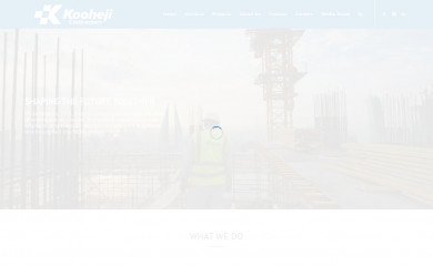 koohejicontractors.com screenshot