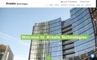 http://kreatetechnologies.com screenshot