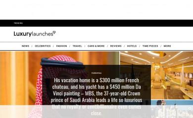 luxurylaunches.com screenshot