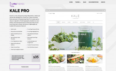 https://www.lyrathemes.com/kale-pro/ screenshot