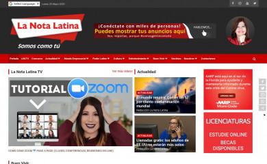lanota-latina.com screenshot