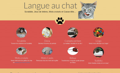 langue-au-chat.fr screenshot