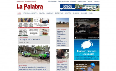 lapalabradelobos.com screenshot