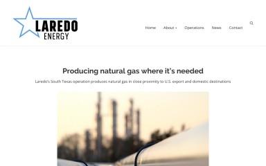 laredoenergy.com screenshot