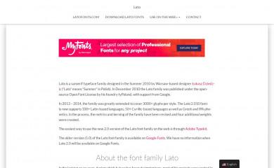latofonts.com screenshot