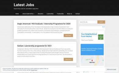 http://latestjobs.co.za screenshot