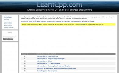 http://learncpp.com screenshot