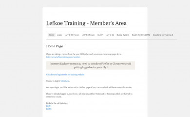 lefkoetraining.com screenshot
