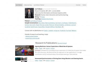 lexfridman.com screenshot