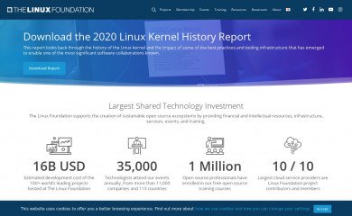 linuxfoundation.org screenshot