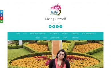 livingherself.com screenshot