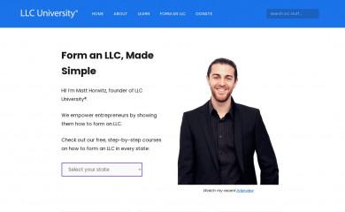 llcuniversity.com screenshot