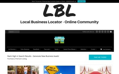 http://localbusinesslocator.com screenshot