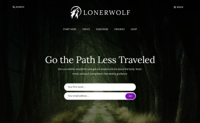 http://lonerwolf.com screenshot