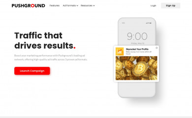 pushground.com screenshot