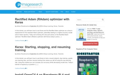 http://pyimagesearch.com screenshot