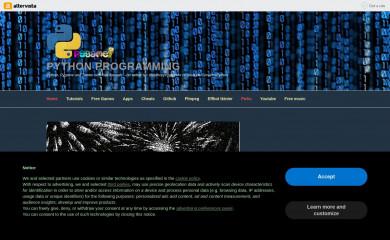 pythonprogramming.altervista.org screenshot