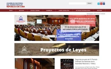 parlamentocubano.cu screenshot