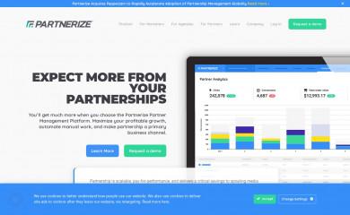 partnerize.com screenshot
