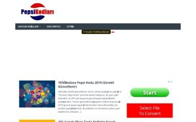 pepsikodlari.com screenshot