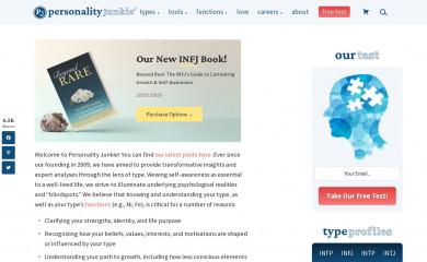 http://personalityjunkie.com screenshot