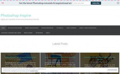 photoshopinspire.com screenshot