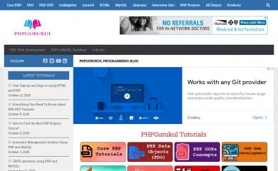 phpgurukul.com screenshot