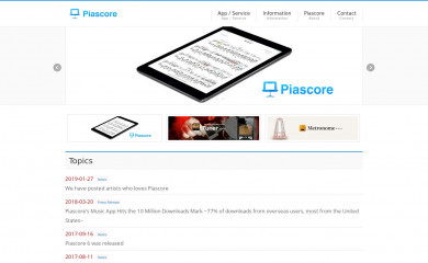 piascore.com screenshot