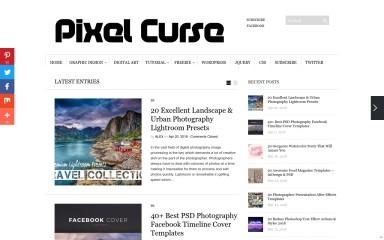 pixelcurse.com screenshot