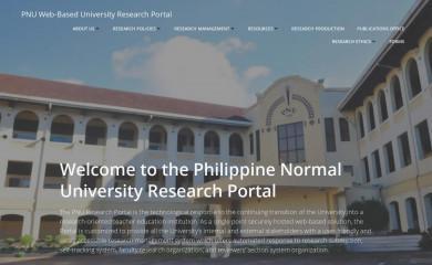 pnuresearchportal.org screenshot