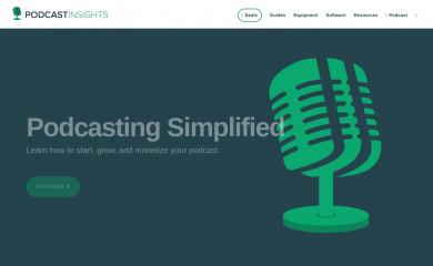 http://podcastinsights.com screenshot