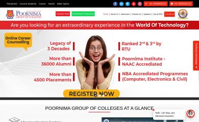 poornima.org screenshot