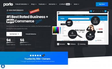 https://www.portotheme.com/wordpress/porto screenshot